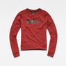 G-Star RAW® Micella Cropped Sweat Red flat front