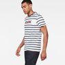 G-Star RAW® Mow Stripe T-Shirt White model side