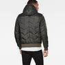 G-Star RAW® Whistler Meefic Quilted Hooded Bomber Grey model back