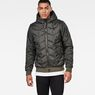 G-Star RAW® Whistler Meefic Quilted Hooded Bomber Grey model front