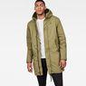 G-Star RAW® Strett Sherpa Hooded Parka Green model front