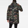 G-Star RAW® Strett Sherpa Hooded Parka Green model back