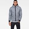G-Star RAW® Whistler Meefic Padded Hooded Jacket Dark blue model front