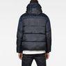 G-Star RAW® Whistler Hooded Quilted Jacket Dark blue model back
