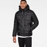 G-Star RAW® Whistler Hooded Quilted Jacket Black model front