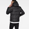 G-Star RAW® Whistler Hooded Quilted Jacket Black model back