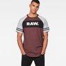 G-Star RAW® Beatal Loose Raglan T-Shirt Purple model front