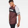 G-Star RAW® Beatal Loose Raglan T-Shirt Purple model side