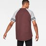 G-Star RAW® Beatal Loose Raglan T-Shirt Purple model back