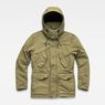 G-Star RAW® Vodan Padded Hooded Jacket Green flat front