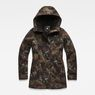 G-Star RAW® Rovic Slim Padded Teddy Parka Green flat front