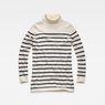 G-Star RAW® Deline Breton Turtle Knit White flat front