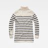 G-Star RAW® Deline Breton Turtle Knit White flat back