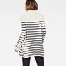 G-Star RAW® Deline Breton Turtle Knit White model back
