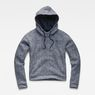 G-Star RAW® Pugna Relaxed Cropped Hooded Sweat Dark blue flat front