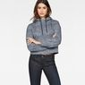 G-Star RAW® Pugna Relaxed Cropped Hooded Sweat Dark blue model front
