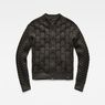 G-Star RAW® Biker Zip Through Knit Grau flat front
