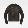 G-Star RAW® Biker Zip Through Knit Grau flat back