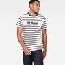 G-Star RAW® Mow Stripe T-Shirt White model front