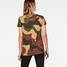 G-Star RAW® Oversized  Dutch Camo Straight T-Shirt Green model back