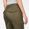 G-Star RAW® Rovic Mid Waist Skinny Cargo Pants Green model back zoom