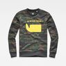 G-Star RAW® Sverre Core Sweat Green flat front