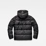 G-Star RAW® Whistler Hooded Quilted Jacket Black flat back