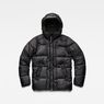 G-Star RAW® Whistler Hooded Quilted Jacket Black flat front