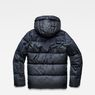 G-Star RAW® Whistler Hooded Quilted Jacket Dark blue flat back