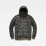 G-Star RAW® Whistler Meefic Quilted Hooded Bomber Grey flat front