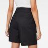 G-Star RAW® Bristum Pleated High waist Bermuda Shorts Schwarz model back zoom