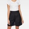 G-Star RAW® Bristum Pleated High waist Bermuda Shorts Black model front