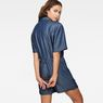 G-Star RAW® Bronson Short Jumpsuit Dark blue model back zoom