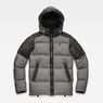 G-Star RAW® Whistler Hooded Quilted Jacket Grey flat front