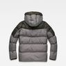 G-Star RAW® Whistler Hooded Quilted Jacket Grey flat back