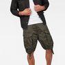 G-Star RAW® Rovic Zip Loose 1/2-Length Shorts Grey model front