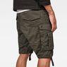 G-Star RAW® Rovic Zip Loose 1/2-Length Shorts Grey model back zoom
