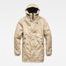 G-Star RAW® Whistler Strett Sherpa Hooded Parka Brown flat front