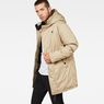 G-Star RAW® Whistler Strett Sherpa Hooded Parka Brown model side