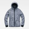 G-Star RAW® Whistler Meefic Padded Hooded Jacket Dunkelblau flat front