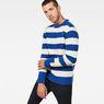 G-Star RAW® Doolin Stripe Knit Medium blue model front