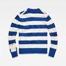 G-Star RAW® Doolin Stripe Knit Medium blue flat back