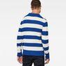 G-Star RAW® Doolin Stripe Knit Medium blue model back