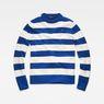 G-Star RAW® Doolin Stripe Knit Medium blue flat front