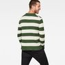 G-Star RAW® Doolin Stripe Knit Grün model back
