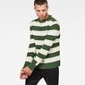 G-Star RAW® Doolin Stripe Knit Grün model front