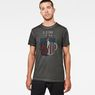 G-Star RAW® Vintage Graphic T-Shirt Grey model front