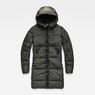 G-Star RAW® Whistler Hooded Quilted Slim Long Coat Grey flat front