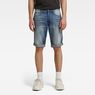 G-Star RAW® 3301 1/2-Length Shorts Medium blue front flat