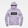 G-Star RAW® Swando Hooded Sweatshirt Purple model front